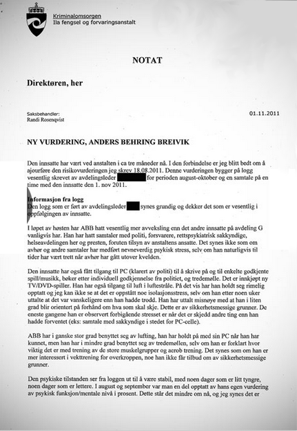 Norway v breivik psychiatric reports transcripts for Psychiatrist report template